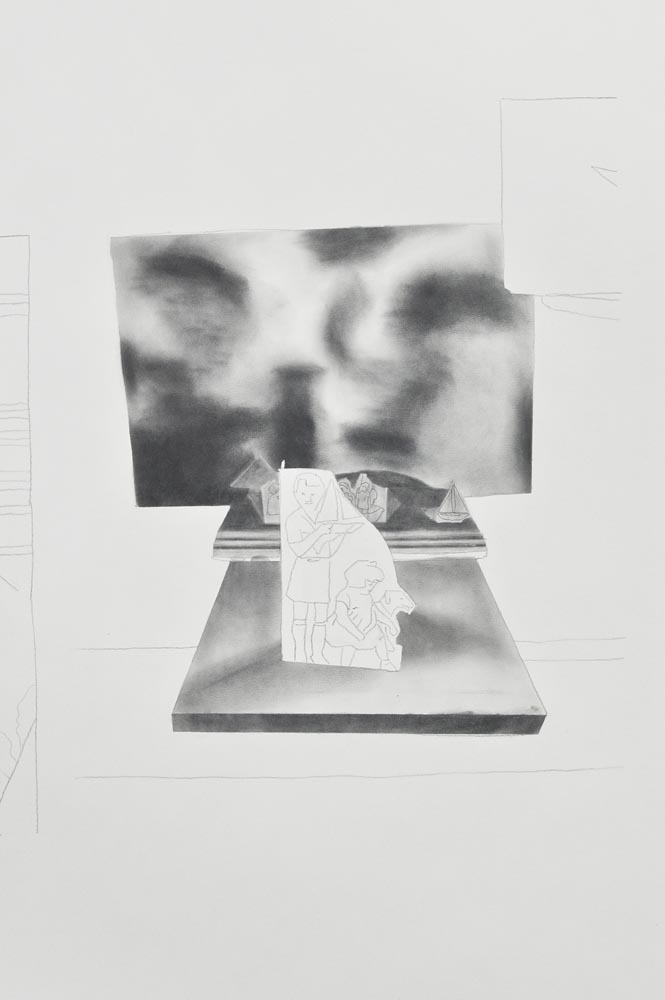 "2014. GRAPHITE POWDER ON PAPER 59"" X 184"" (150 X 469 CM)"